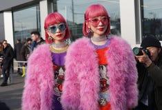 humor da semana de moda de Milão imagens de stock