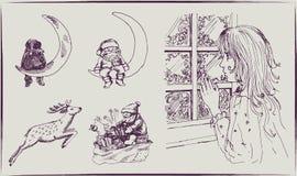 Humor de la Navidad: esperar un milagro Foto de archivo