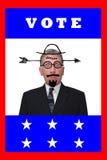 Humor de la política de la apatía del votante del año de la elección del voto Imagen de archivo libre de regalías