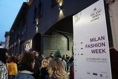 humor de la semana de la moda de Milano foto de archivo libre de regalías