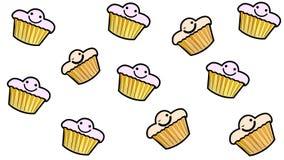 Humor de la torta con una sonrisa stock de ilustración