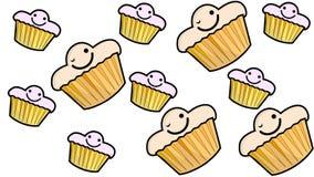 Humor de la torta stock de ilustración