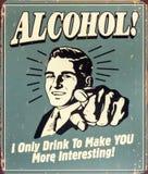 Humor del alcohol Imagen de archivo libre de regalías