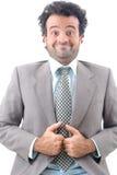 Humor del hombre de negocios foto de archivo libre de regalías