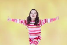 Humor del verano una niña Fotografía de archivo