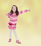 Humor del verano una niña Foto de archivo