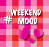 Humor do fim de semana de Hashtag Foto de Stock