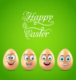 Humor Easter Card with Funny Eggs Royalty Free Stock Photo