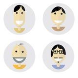 Humor feliz de diseño plano de las caras Fotos de archivo