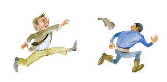 humor Gniewny klientów rzutów but przy kontrahentem royalty ilustracja