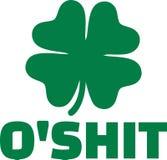 Humor irlandês - merda do ` do ilustração stock