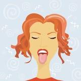humor kobieta s ilustracja wektor