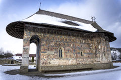 Humor Monastery. One of the famous painted monasteries in Romania royalty free stock image