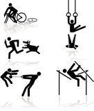 Humor olympic games - 1 Royalty Free Stock Photography