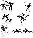Humor olympic games - 2 Royalty Free Stock Photos