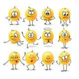 Emociones del smiley del vector Foto de archivo libre de regalías