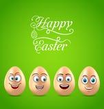 Humor Wielkanocna karta z Śmiesznymi jajkami ilustracja wektor