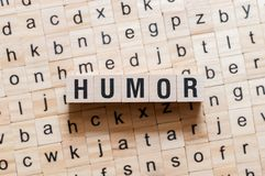 Humor word concept stock images