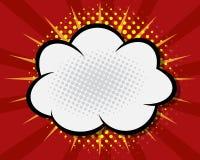Humorbokanförandebubbla, tecknad film för popkonst Arkivfoto