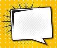 Humorbokanförandebubbla, tecknad film för popkonst Arkivfoton