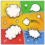 Humorbokanförandebubblor retro vektor för designelement stock illustrationer