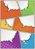 Humorboksida med anförandebubblor vektor illustrationer