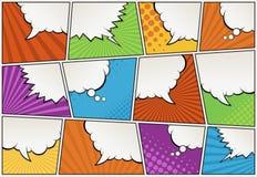 Humorboksida med anförandebubblor stock illustrationer