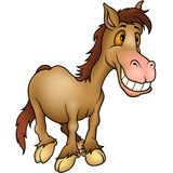 Humorista del caballo Foto de archivo