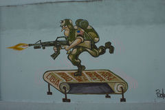 Humoristas ενάντια στον πόλεμο †«Σάντα Κλάρα, Κούβα Στοκ φωτογραφία με δικαίωμα ελεύθερης χρήσης