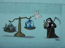 Humoristas против войны, Santa Clara, Кубы иллюстрация штока