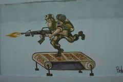 Humoristas against war – Santa Clara, Cuba Royalty Free Stock Photo