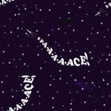 Humoristisch naadloos patroon op het thema van ruimteexploratie Royalty-vrije Stock Foto