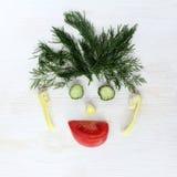 Humoristisch stillevenportret van vegetariër Royalty-vrije Stock Fotografie