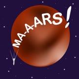 Humoristische illustratie op het thema van ruimteexploratie Royalty-vrije Stock Foto's