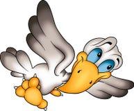 Humoristische vliegende vogel Stock Afbeelding