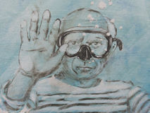 Humoristisk hedersgåva till Pablo Picasso Arkivfoto