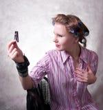 humoristisk stående för flicka Fotografering för Bildbyråer
