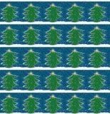 Humoristiska komiker för julgran med maskot och symboler vektor illustrationer