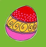 Humoristiska komiker för påskägg med maskot och symboler vektor illustrationer