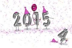 Humoristiskt nytt år 2015 royaltyfri illustrationer