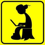Humoristiskt tecken för rysk en hacker royaltyfri illustrationer