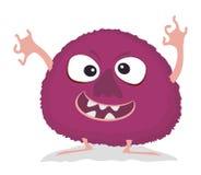 Humoristiskt tecknad filmmonster Monster för vektorallhelgonaaftonviolet vektor illustrationer