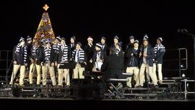 Humorous Christmas Carol at the Ellipse in Washington DC stock video