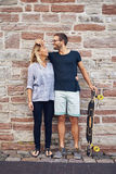 Humorous couple loving each other Stock Image