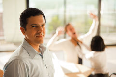 Humorous Exaggerated Workplace Violence Royalty Free Stock Photo