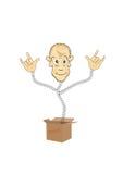 Humorous figurine of the box. Royalty Free Stock Image