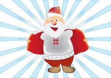 Humorous illustration of Santa Claus Stock Image