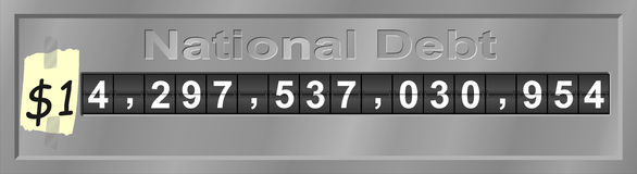 Humorous National Debt Clock Stock Photos