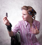 A humorous portrait of a girl Stock Image