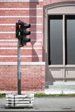 Traffic lights against street cover canvas Stock Image